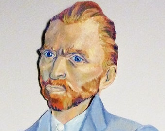 Vincent Van Gogh Articulate Paper Doll - Paper Puppet - DIY Printable PDF