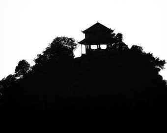 Mountain Pagoda Vietnam Ha Long Bay Photograph on Aluminum
