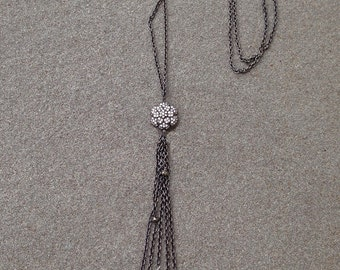 Diamond Rosette Necklace