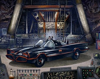 The Bat Cave- Limited Edition Signed Print