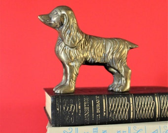 Vintage Brass Dog / Brass Dog / Vintage Dog / Brass Animal / Brass / Dog / Dog Lover Gift
