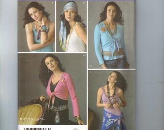 Misses Sewing Pattern Simplicity 4306 Misses Wrap Top Belly Dance Tribal Head Wrap Belt Scarf Size 6 8 10 12 UNCUT
