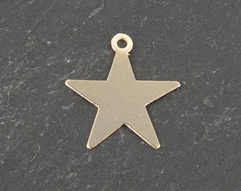 Gold Filled Star Charm 16mm (CG9532)