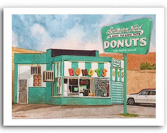"Donut Shop Art ""Southern Maid"" Prints Signed and Numbered"