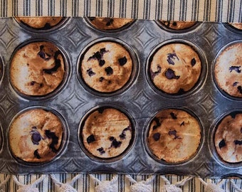 Blueberry muffins tea towel