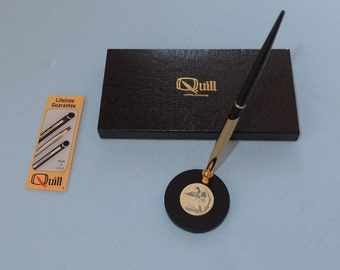 Vintage Quill Duck Design Desk Set Ballpoint Pen New in Box