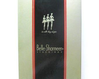 Vintage Hose / Belle Sharmeer Hosiery Stockings with Box / Vintage Nylons / 4 Pair / Deadstock with Original Paperwork