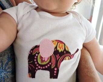 Baby Elephant Baby Bodysuit