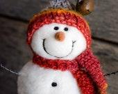Needle Felt Snowman - Needle Felted Snowman - Christmas Snowman - Christmas Decoration - Christmas Decor -  Wool Snowman - Winter Décor -839