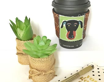 Coffee Cozy Sleeve, Coffee Cozy, Java Jacket, Gifts for Dog Lovers, Gifts Under 10, Coffee Lovers, Doberman Coffee Sleeve, Gifts for Her