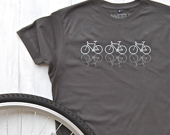 Reflective Cycles T-shirt - Bicycle t-shirt - bike shirt - cycling t-shirt - bicycle print shirt - gifts for him - graphic tees - dad gift