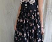 RESERVED Bohemian Rose Gown... bustier formal women dress prom boho whimsical maxi unique wedding country
