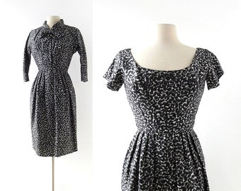 Vintage 1950s Dress | Suzy Perette | Silk Dress | Two Piece Dress | XS