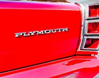 Plymouth Valiant Two-Hundred Tail Light Car Photography, Automotive, Auto Dealer, Classic, Sports Car, Boys Room, Garage, Dealership Art