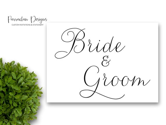 Reserved for Bride and Groom Wedding Sign | Bride and Groom Sign | Brida and Goom | Custom Wedding Sign | FS01