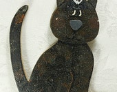 Hand Painted Wooden Cat- Personalized For FREE, Available In A Variety Of Colors
