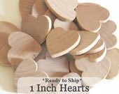 Unfinished Wooden Hearts - 1 inch - Pack of 100