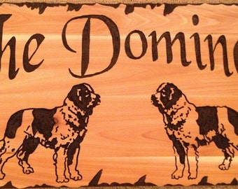 12x24 Custom routed wood sign