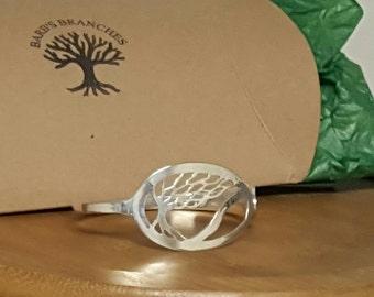 Sterling Silver Tree Spoon Bangle Bracelet