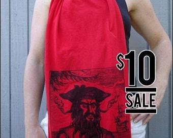 10 Dollar Sale -- Blackbeard Red Sheer Cotton Scarf