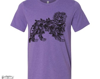 Mens Leaf LION t shirt  s m l xl xxl (+ Color Options)