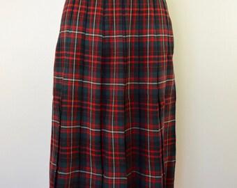 on sale Vintage PEERLESS Sportswear of Boston WOOL plaid skirt 1940's 50's pleated