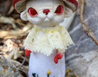 Fly Agaric Shroompup - OOAK Art Doll