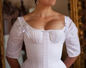 "Custom Regency Corset Stays, Historical costume underpinning made to your measurements up to 34"" waist, Jane Austen Era Corset"
