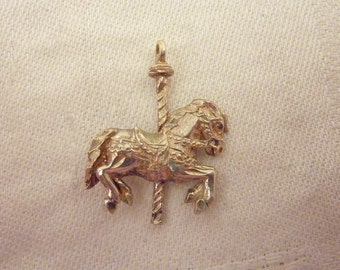 Vintage Sterling Silver Merry-Go-Round Horse Pendant