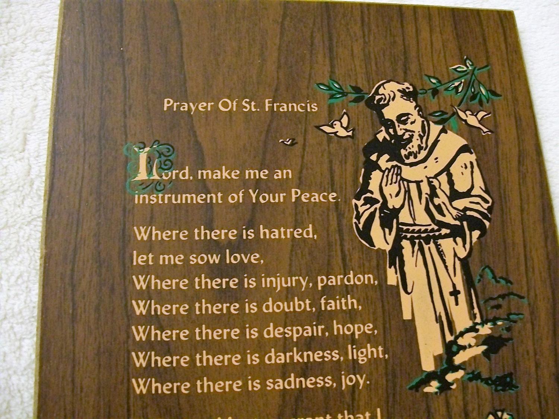 Prayer Of St Francis Vintage Saint Francis Prayer Wall