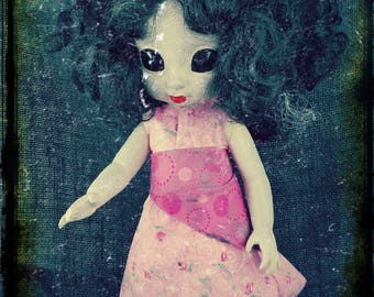 Creepy Haunted Alien-Human Hybrid Baby Doll Halloween Art Doll OOAK