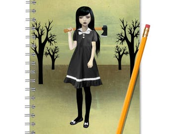 Lizzie Borden Notebook - Lizzie Borden Journal - Lined Notebook - Spite