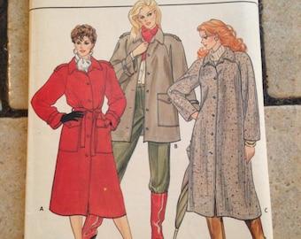 Butterick 4507 Size 18, 20, 22 Misses' Coat, Jacket, and Belt Pattern UNCUT