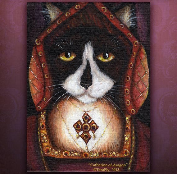 Catherine Aragon Cat 5x7 Fine Art Print