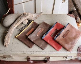 Kangaroo Leather Pouches - Medium