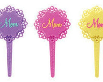 Mother's Day Pick - Mom cupcake pick