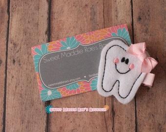 Girls Hair Clip--Smiley Tooth Feltie