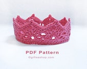 Crochet Crown Pattern- Princess Crown - Princess Tiara - Prince Crown - Photography Props N77