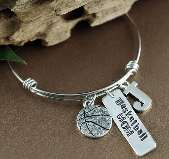 Basketball Bracelet, Personalized Sports Bracelet, Jewelry for Basketball Mom, Mothers Day Gift, Basketball Jewelry, Team Mom Gift