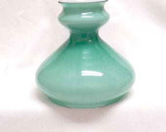 Glass Lamp Shade Vintage Pastel Green Cased Glass