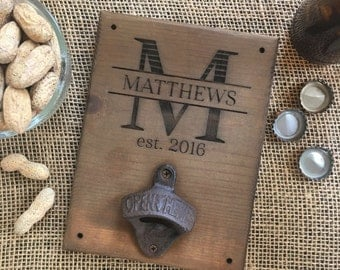 Personalized Wood Bottle Opener Gift For Him 21st Birthday Wedding Gift Groomsmen Gift Christmas Gift SHIPS QUICK (item number NVMHDAYD1011)