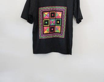 90's Geometric Print Tee