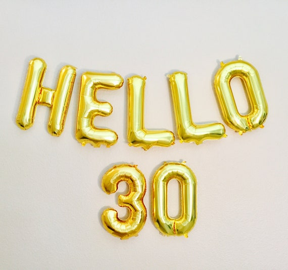 Hello 30 balloons 30th birthday 30th 30 class reunion for 30th birthday decoration packages
