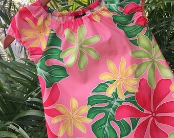 Girls Hawaiian Dress Muu Muu Coral Leilani
