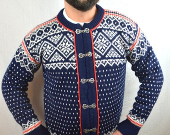 Vintage 80s Nordic Wool Blue Sweater - Dale of Norway - Classic