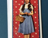 Wizard of Oz Dorothy Handmade Birthday Card Featuring Removable Magnet