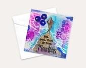 Encouragement Card, Congratulations Card, Art Card, Friendship Card, Inspiring Stationary, Graduation Card, Good Luck Cards