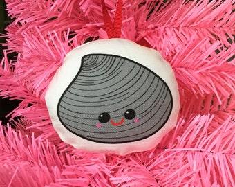 Rhode Island Quahog Christmas Ornament