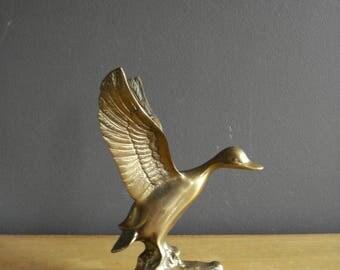 Meet Mr. Goose - Brass Bookend, Paperweight or Figurine - Brass Bird Book End