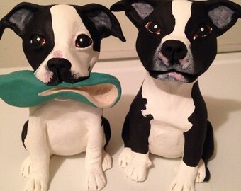 Two Dog Sculptures